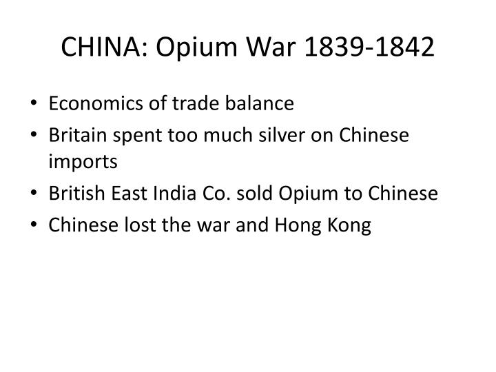 CHINA: Opium War 1839-1842