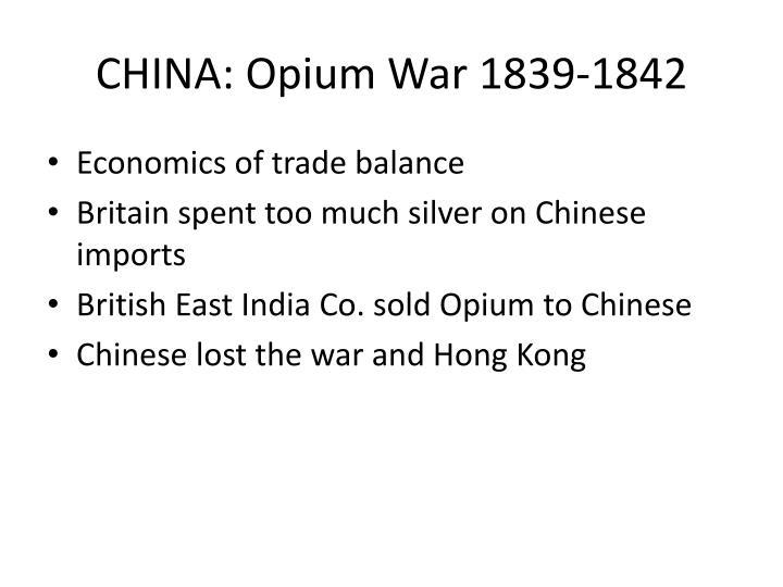 CHINA: Opium War 1839-1842