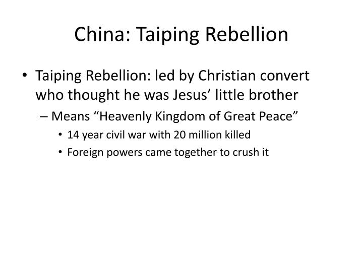 China: Taiping Rebellion