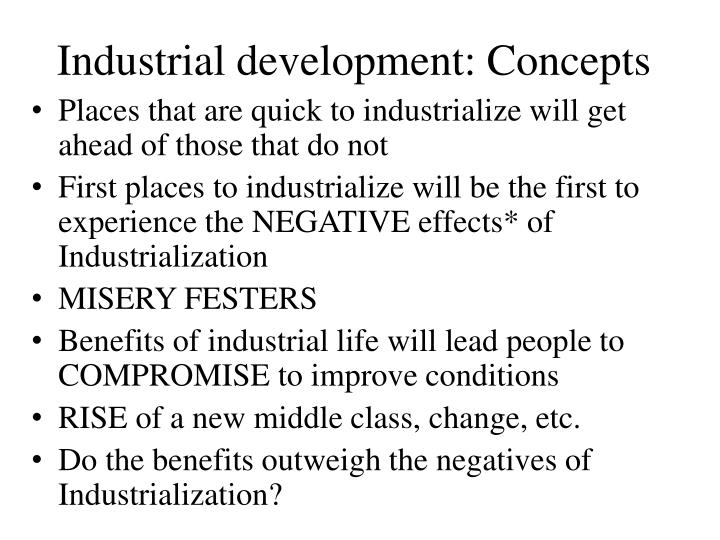 Industrial development: Concepts
