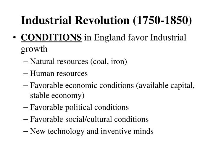 Industrial revolution 1750 1850