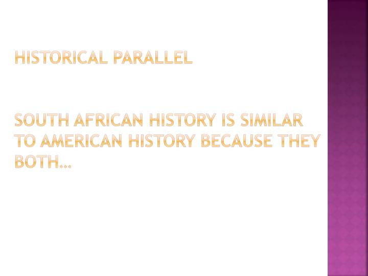 Historical Parallel