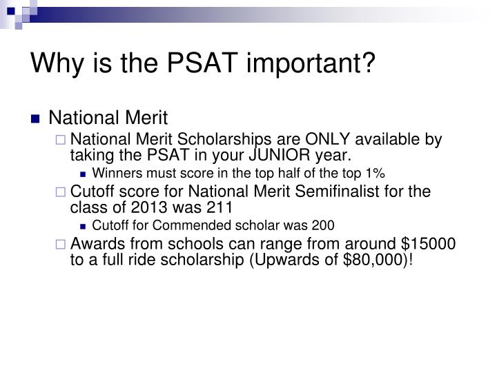 Why is the psat important1