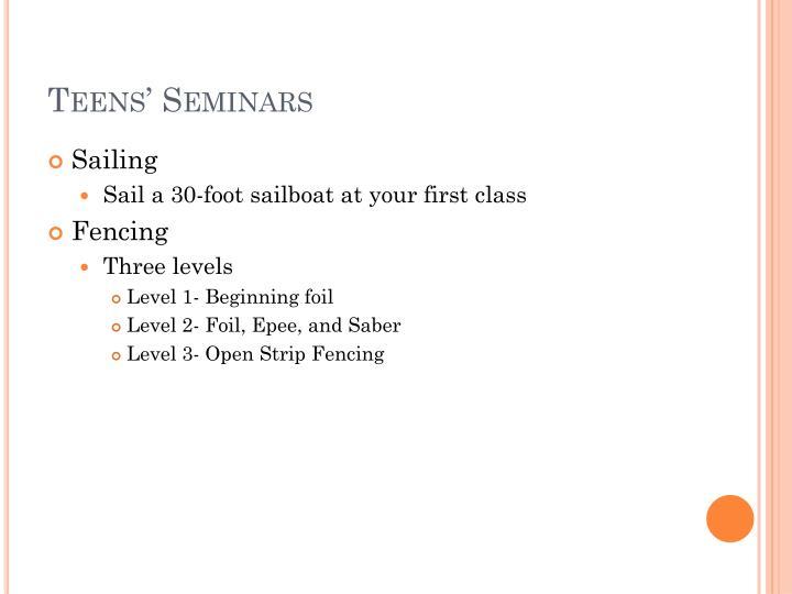 Teens' Seminars