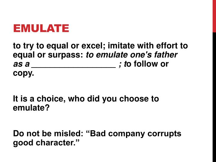emulate