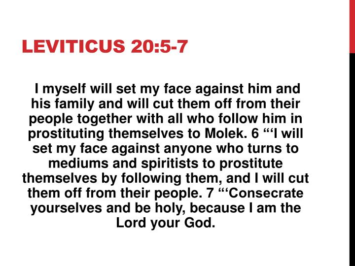 Leviticus 20:5-7