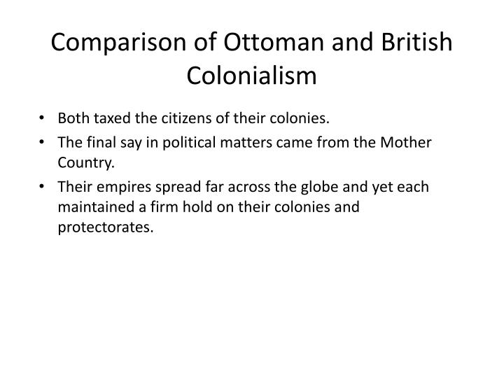 Comparison of Ottoman and British