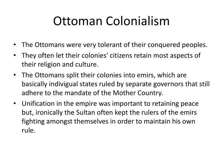 Ottoman Colonialism