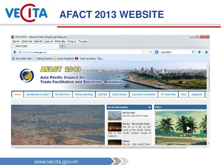 AFACT 2013 WEBSITE