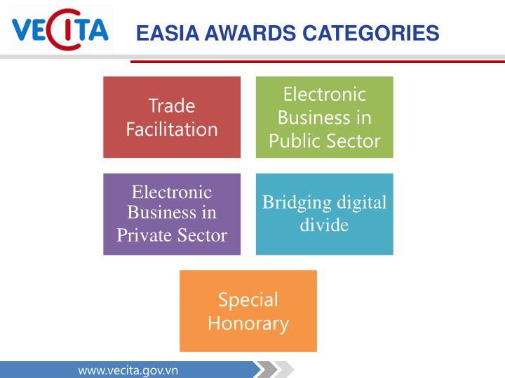 EASIA AWARDS CATEGORIES