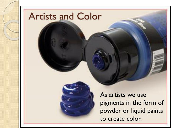 Artists and Color