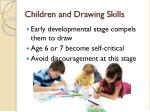 children and drawing skills