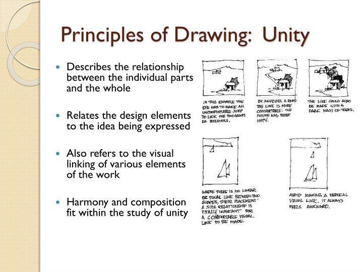 Principles of Drawing:  Unity