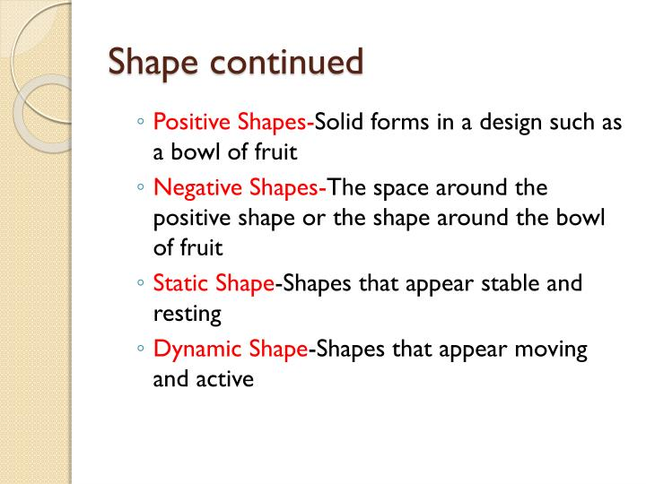 Shape continued