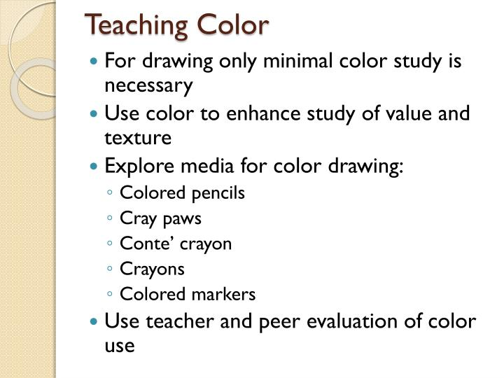Teaching Color