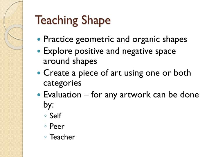 Teaching Shape