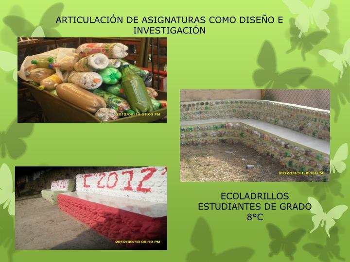 ARTICULACIÓN DE ASIGNATURAS COMO DISEÑO E INVESTIGACIÓN