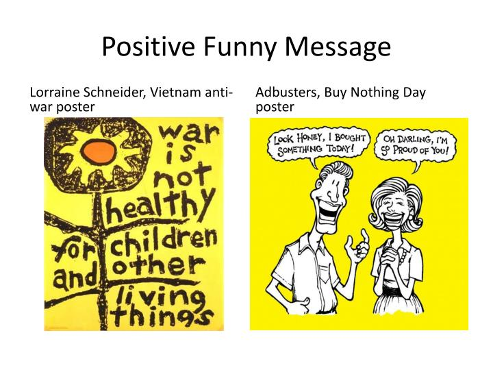 Positive Funny Message