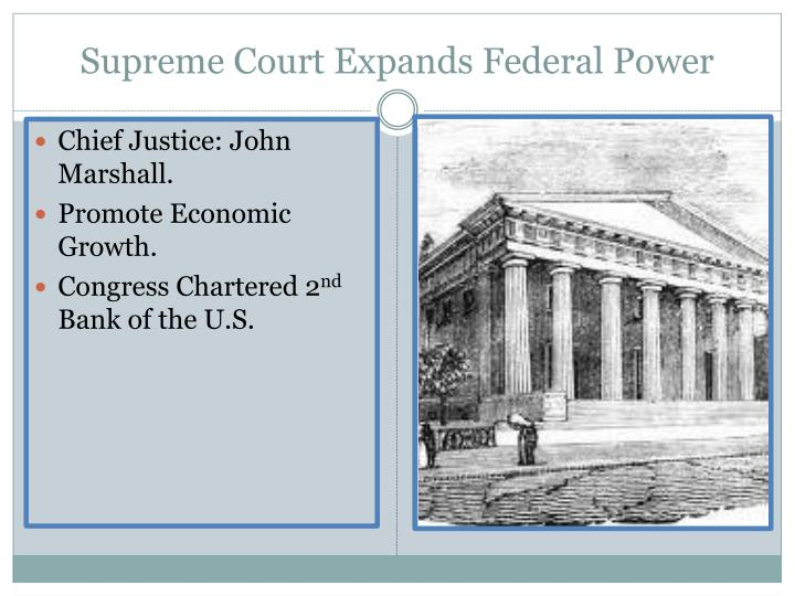 Supreme Court Expands Federal Power