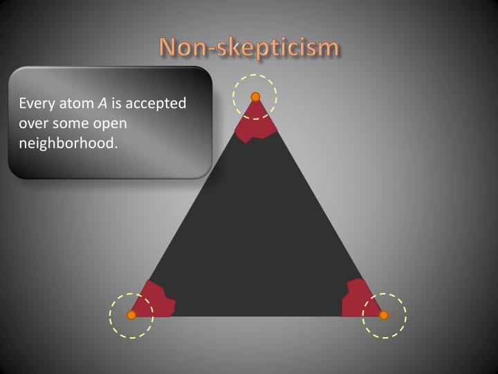 Non-skepticism