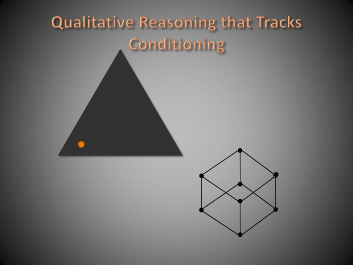 Qualitative reasoning that tracks conditioning1