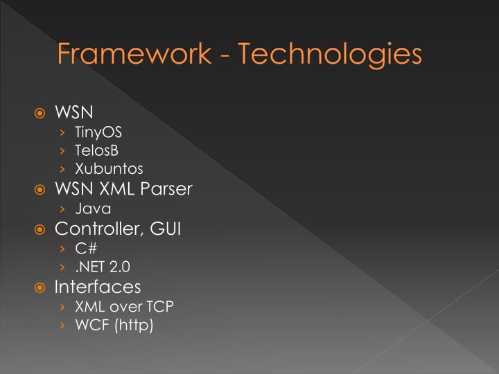 Framework - Technologies