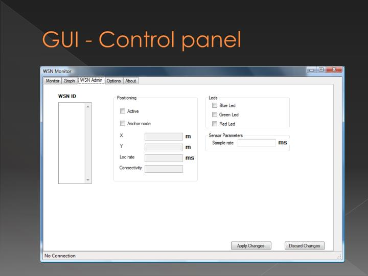 GUI - Control panel