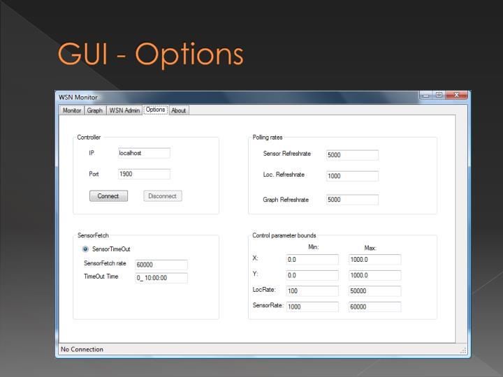GUI - Options