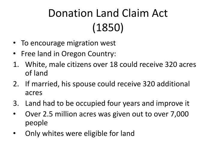 Donation Land Claim Act