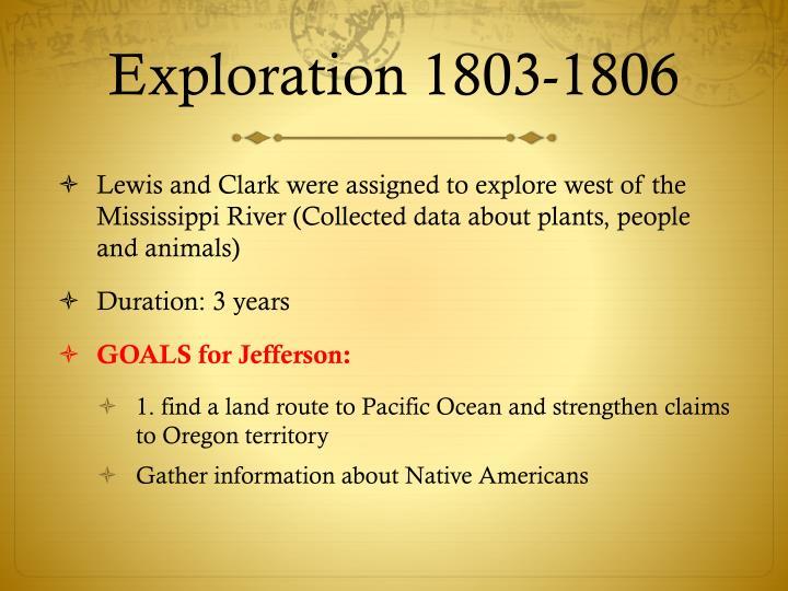 Exploration 1803-1806
