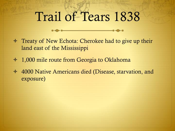 Trail of Tears 1838