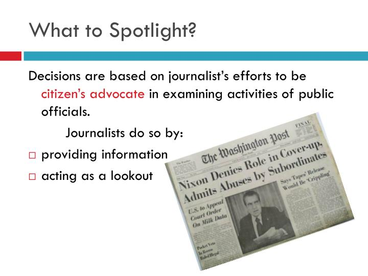 What to Spotlight?