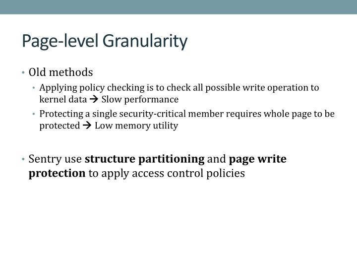 Page-level Granularity