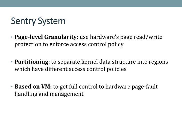 Sentry System