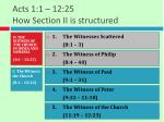 acts 1 1 12 25 how section ii is structured1