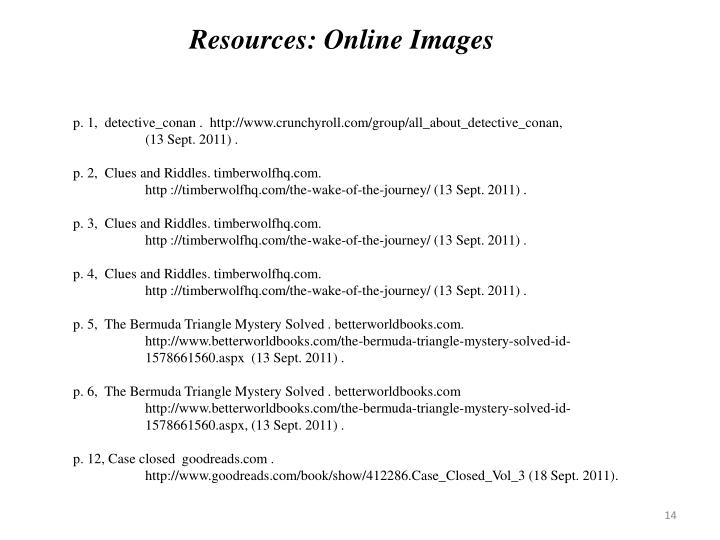 Resources: Online Images