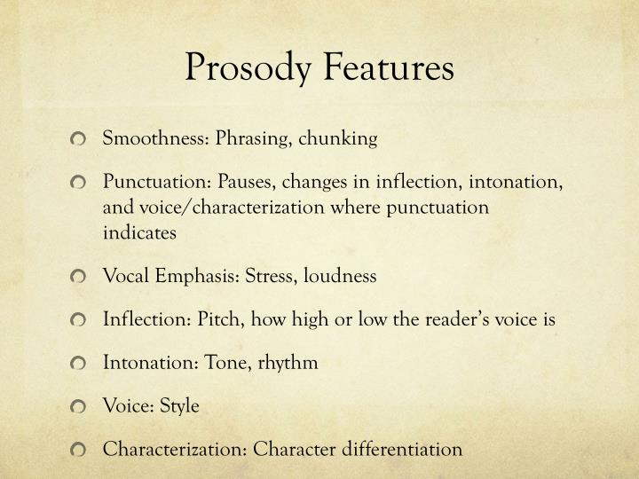 Prosody Features
