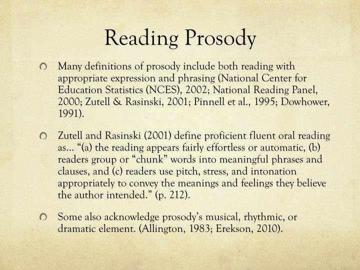 Reading Prosody