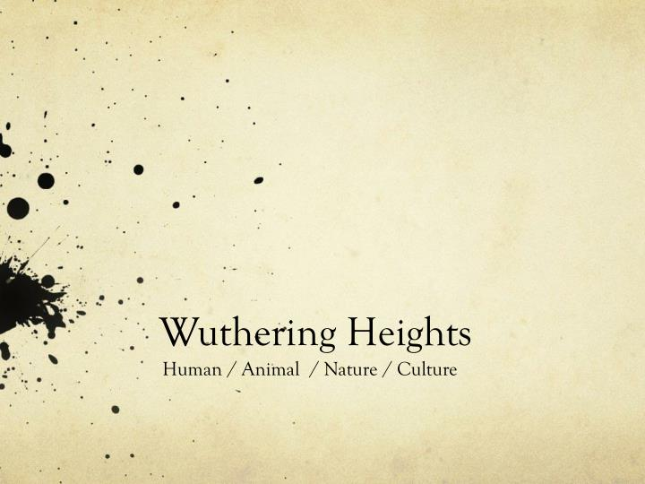 conflict between nature and culture wuthering heights 1 Consideration of the ways in which the conflict between 'nature' and 'culture' ('civilisation') is represented in wuthering heights.