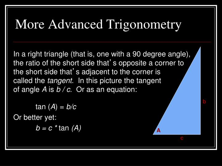 More Advanced Trigonometry