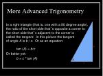 more advanced trigonometry