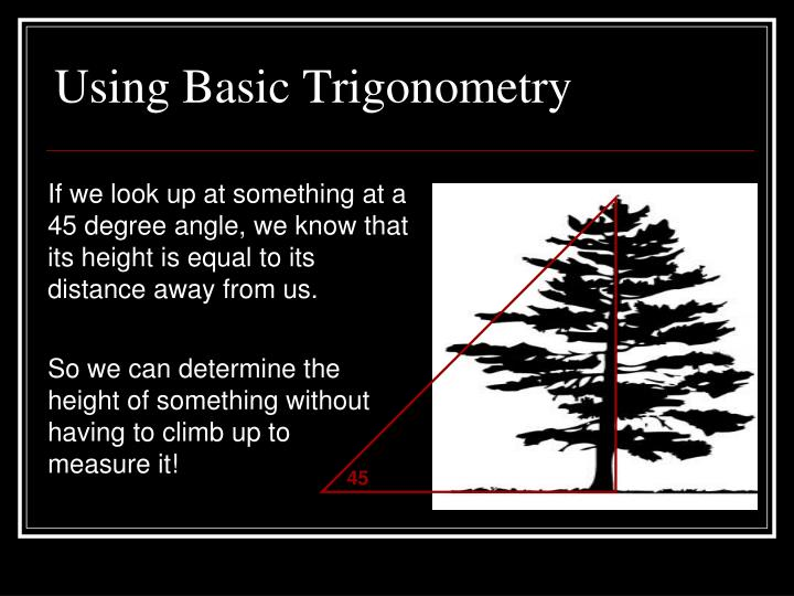 Using Basic Trigonometry