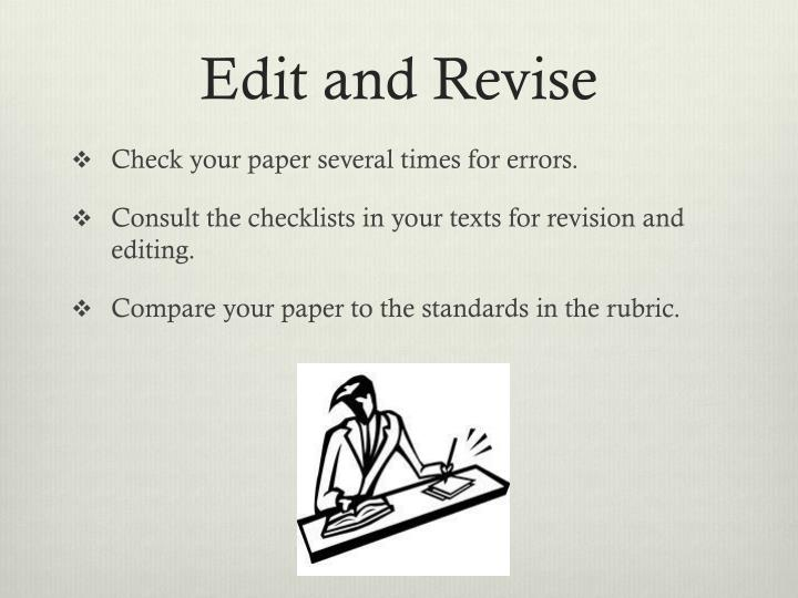 Edit and Revise