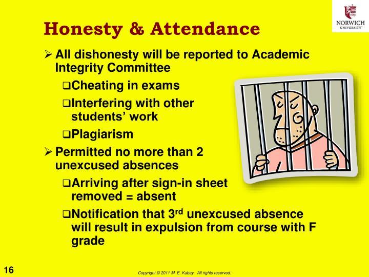 Honesty & Attendance