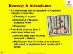 honesty attendance