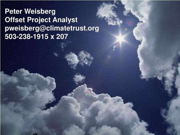 Peter Weisberg
