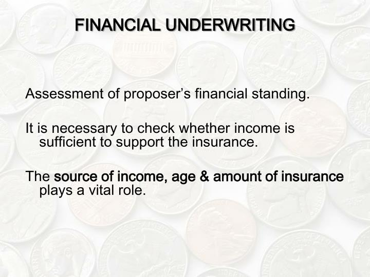 FINANCIAL UNDERWRITING