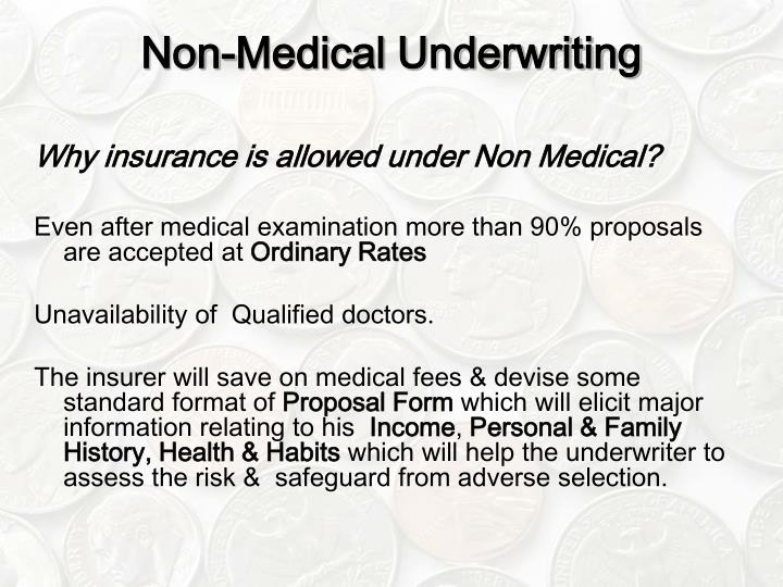 Non-Medical Underwriting