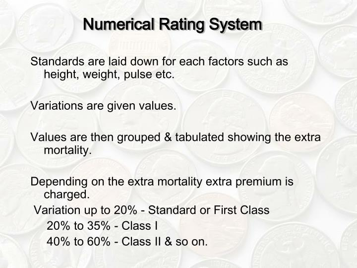 Numerical Rating System