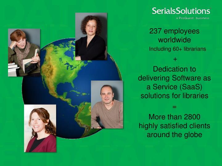 237 employees worldwide